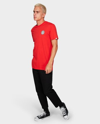 3 Seal Black Short Sleeve Tee Red 184014 Element
