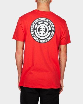 1 Seal Black Short Sleeve Tee Red 184014 Element