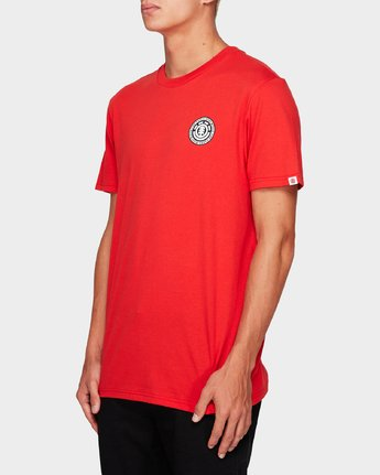 2 Seal Black Short Sleeve Tee Red 184014 Element