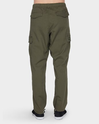 1 Roots Cargo Pant Green 186265 Element
