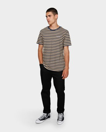 3 Manual Stripe Tee Beige 193002 Element