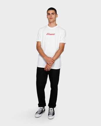 3 Simple Man Short Sleeve Tee White 193012 Element