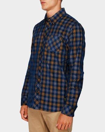 2 Freeway Plaid Long Sleeve Shirt Blue 193216 Element