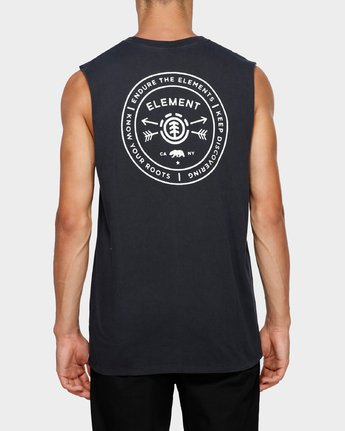 1 Know Your Roots Muscle Tee Black 193272 Element