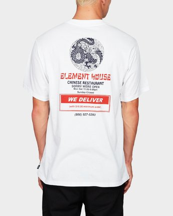 1 Element House Ss Tee White 194019 Element