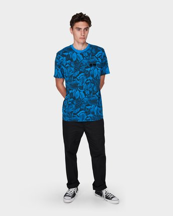 3 GRIFFIN LEAF CAMO SS TEE Blue 196031 Element