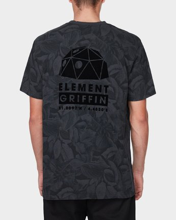 1 GRIFFIN LEAF CAMO SS TEE Black 196031 Element