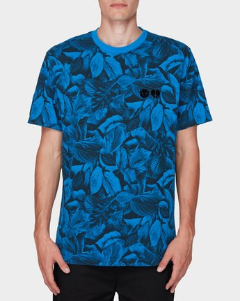 0 GRIFFIN LEAF CAMO SS TEE Blue 196031 Element