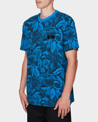 2 GRIFFIN LEAF CAMO SS TEE Blue 196031 Element
