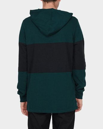 1 DEXTER LS RUGBY HOOD TEE Green 196052 Element