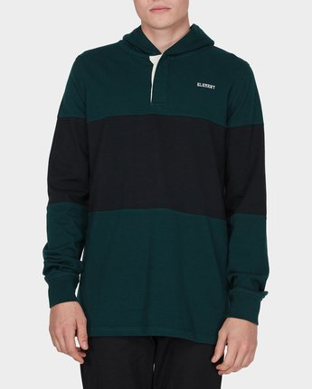 0 DEXTER LS RUGBY HOOD TEE Green 196052 Element
