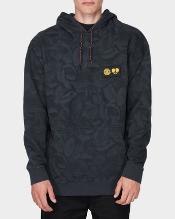 0 GRIFFIN LEAF CAMO HOODED PULLOVER Black 196321 Element