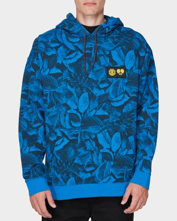 0 GRIFFIN LEAF CAMO HOODED PULLOVER Blue 196321 Element