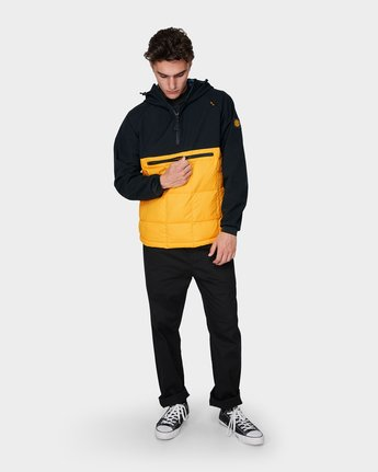3 GRIFFIN LIGHT DOWN HOODIE Yellow 196469 Element