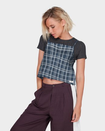 2 LOOPED CHECK CAMI Blue 284218 Element