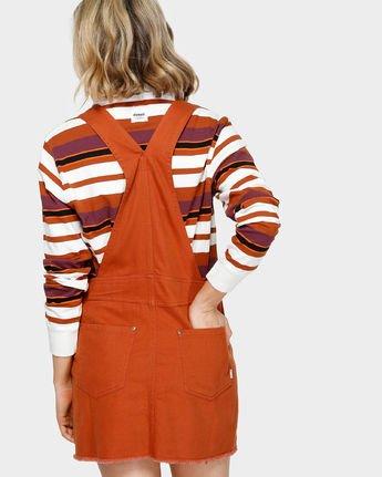 1 OLIVIA PINAFORE DRESS Orange 293869 Element