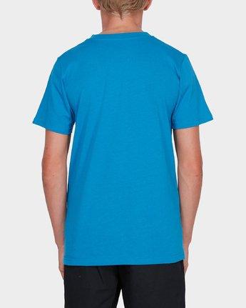 1 BOYS YOUTH HORIZONTAL SHORT SLEEVE TEE Blue 383001 RVCA