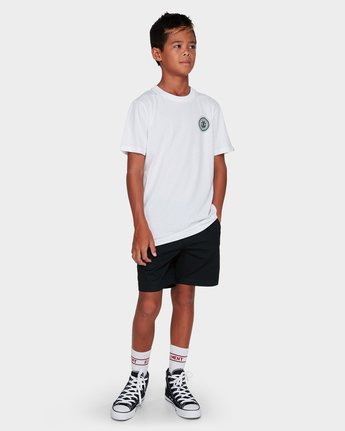 3 YOUTH HATCHED SS White 394002 RVCA