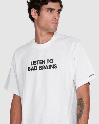 3 LISTEN TO BAD BRAINS SHORT SLEEVE TEE White 502008 Element