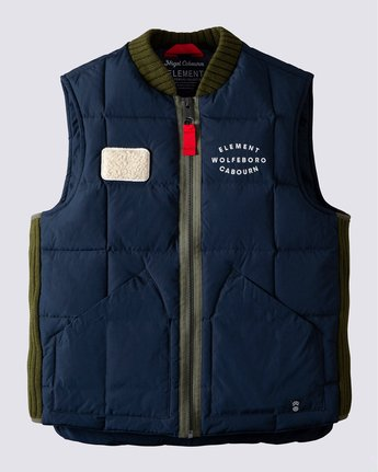 0 Fishing Down Vest Blue ALYJK00125 Element