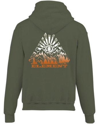 3 Longley Pigment Hoodie Green ALYSF00100 Element
