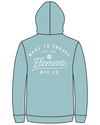 3 Alveston Pigment Hoodie Green ALYSF00101 Element