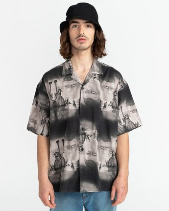 5 Planet of the Apes Paradise Short Sleeve Button-Down Shirt  ALYWT00124 Element