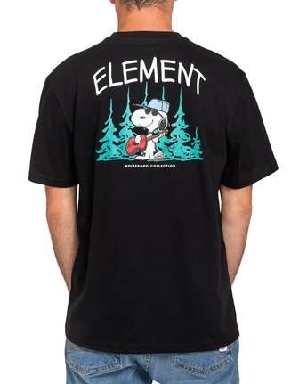 1 Peanuts x Element Good Times T-Shirt Blue ALYZT00164 Element