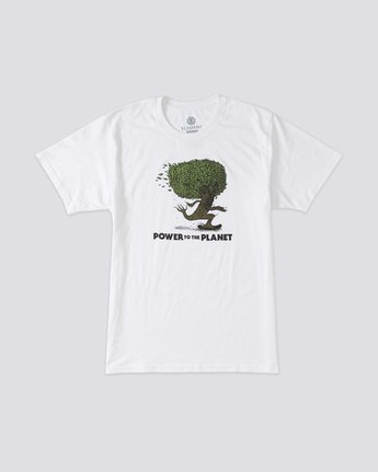 0 Mottilaa Pushing Trees T-Shirt White ALYZT00188 Element