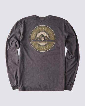 2 Peak Pigment Long Sleeve T-Shirt Blue ALYZT00355 Element
