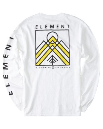 3 Dronis Long Sleeve T-Shirt White ALYZT00364 Element