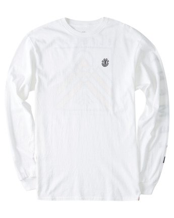 2 Dronis Long Sleeve T-Shirt White ALYZT00364 Element