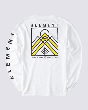 1 Dronis Long Sleeve T-Shirt White ALYZT00364 Element