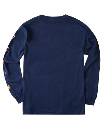 3 Hiro Long Sleeve T-Shirt Blue ALYZT00367 Element
