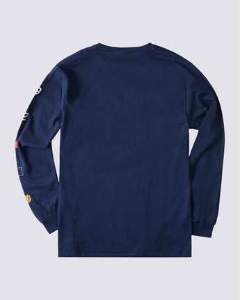 1 Hiro Long Sleeve T-Shirt Blue ALYZT00367 Element