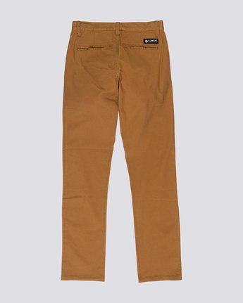 1 Boys' Howland Classic Chinos Shorts Brown B3161EHP Element