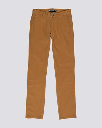 0 Boys' Howland Classic Chinos Brown B3161EHP Element
