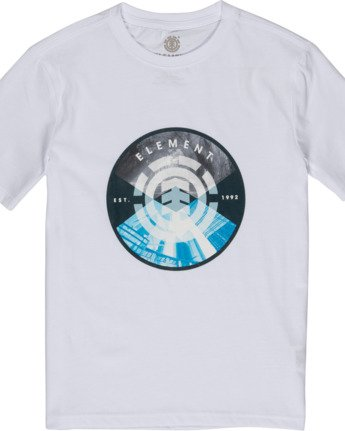 1 Boys' Aiken T-Shirt White B4011EAI Element