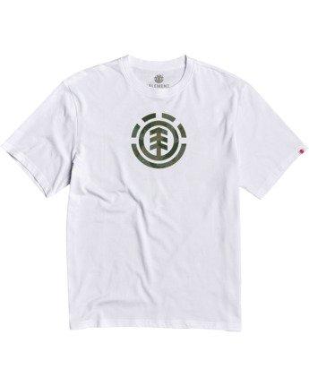 1 Boys' Water Camo T-Shirt White B4013EWA Element