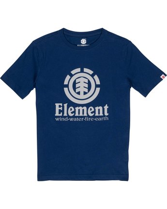 1 Boys' Vertical T-Shirt Blue B401TEVE Element