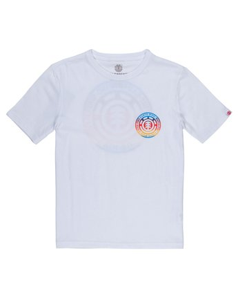 2 Seal Gradient Boys Tee White B401VESE Element
