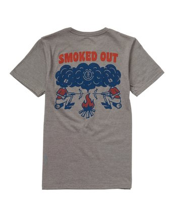 3 Boys' Smoke T-Shirt Grey B421NESM Element