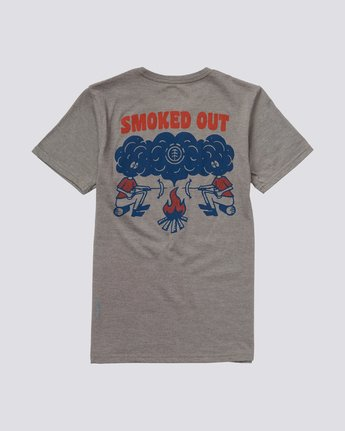 1 Boys' Smoke T-Shirt Grey B421NESM Element