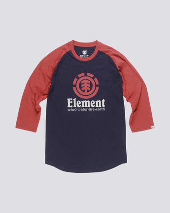 0 Boy's Vertical Raglan Tee  B470QEVR Element
