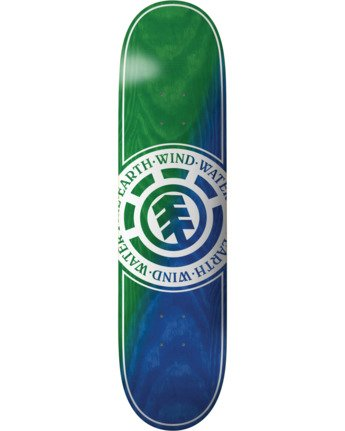 3 Seal Green Blue Skateboard Deck  BDLG3RGB Element