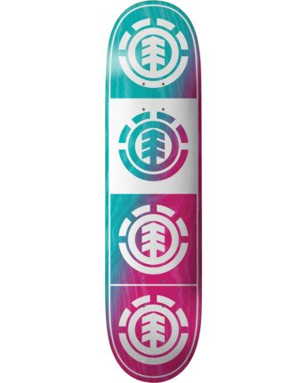 3 Quadrant Teal Pink Skateboard Deck  BDLG3RTP Element