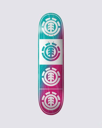 0 Quadrant Teal Pink Skateboard Deck  BDLG3RTP Element