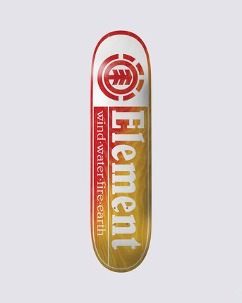 0 Section Yellow Red Skateboard Deck  BDLG3RYR Element