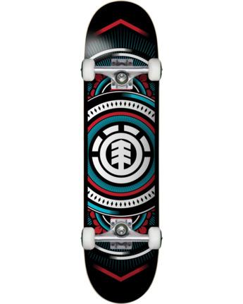 2 Hatched Red Blue Complete Skateboard  COLG3HTC Element