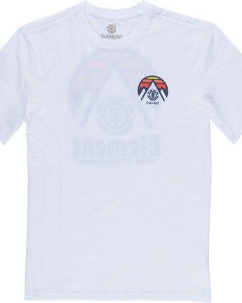 6 Tri Tip Ss - T-Shirt pour Homme Blanc F1SSC3ELF7 Element